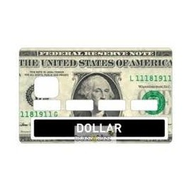 Stickers Carte Bleue Dollar