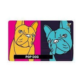 Stickers Carte Bleue Pop Dog