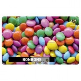 Sticker Carte bleu bonbons
