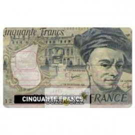 Sticker Carte bleu cinquante francs