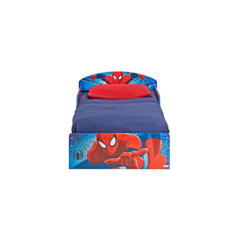 lit enfant a partir de 18 mois spiderman rouge. Black Bedroom Furniture Sets. Home Design Ideas
