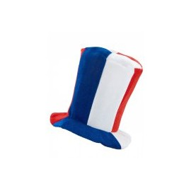 Chapeau Haut de Forme France Supporter