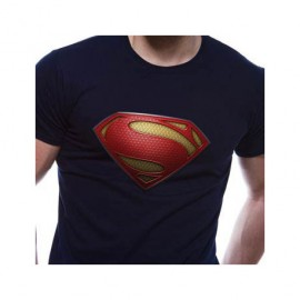 TShirt Superman Homme Man of Steel Noir