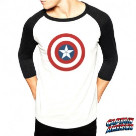 Tshirt Captain America Homme Silver