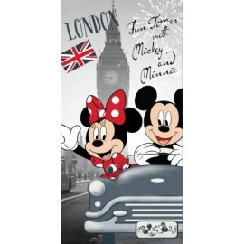 Serviette de Plage Mickey et Minnie