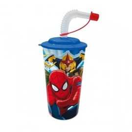 Verre Paille Spiderman